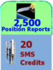 2500 Positions + 20 SMS credits