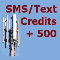 500 SMS credits